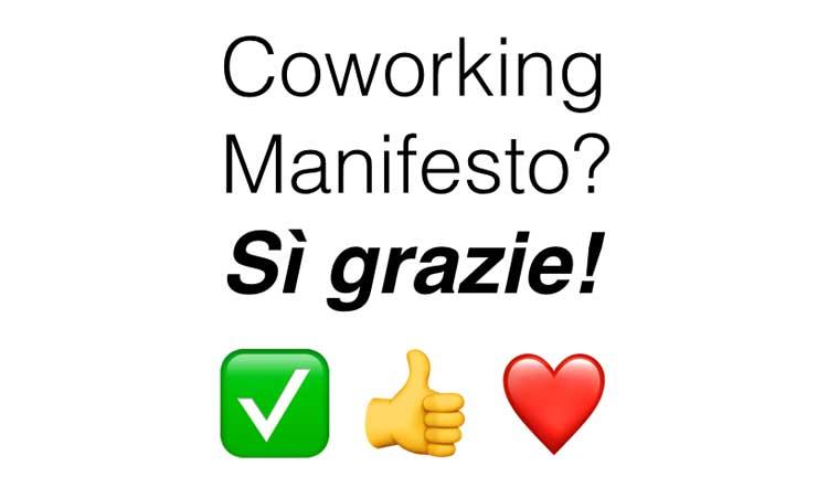 Coworking Manifesto al Coworking Bologna